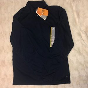 Champion 1/4 zip navy blue